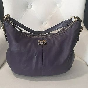 Coach madison purple hobo bag